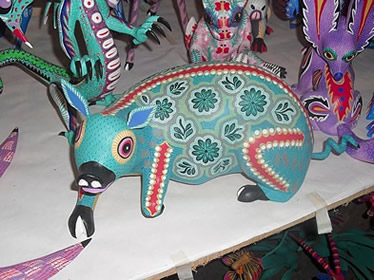 Sculpture d'animal de style alebrije, Oaxaca, Mexique