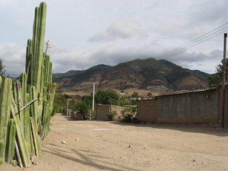 Le village de Xaaga, Oaxaca, Mexique