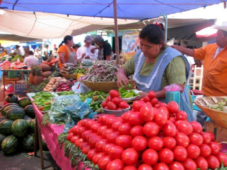 Le marché local de Zaachila, Oaxaca Mexique